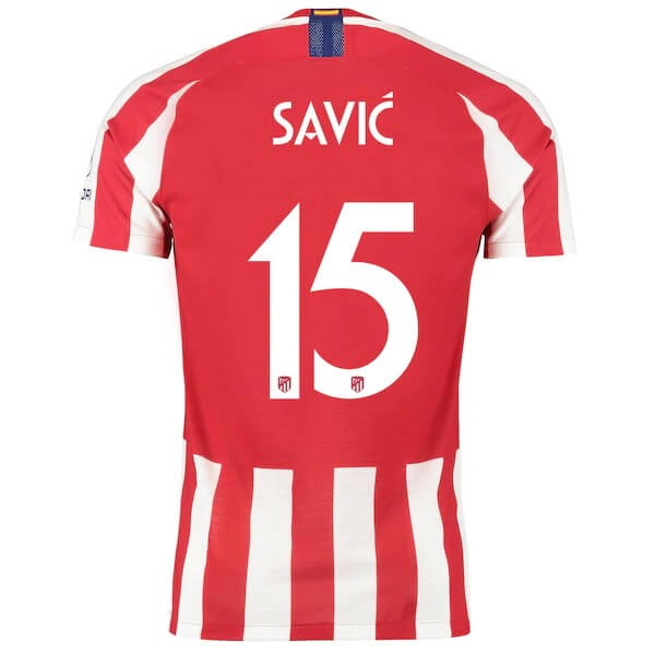 Thailande Maillot Atletico Madrid NO.15 Savic 2019-20 Rouge